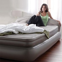 favorite inflatable air beds and mattresses with mini and full, Headboard designs