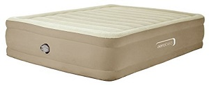Aerobed Comfort raised King Size Inflatable Guest Air Bed, Beige.