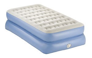Aerobed Classic Double-High Air Mattress Twin with Pump, comfortable space saving guest bed idea.