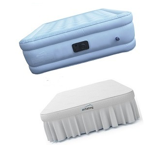 Best Choice King Size Inflatable Raised Air Bed Mattress with Fitted Sheet, 600 lb. weight capacity.