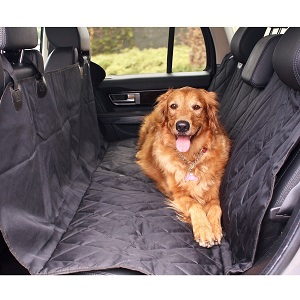 BarksBar Pet Car Seat Cover with Seat Anchors for Cars, Trucks, SUVs and Vehicles, Waterproff and NonSlip Backing.