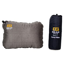 Bear Grylls Pack-It Camp Pillow - Blow up Pillow for Camping