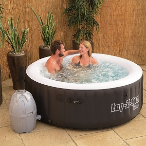 Bestway Lay-Z-Spa Miami Inflatable Portable Hot Tub with Bubble jets for Health and Relaxation