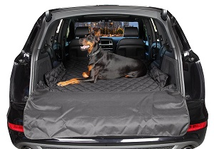 4Knines Quilted and Padded Waterproof SUV Liner for Pets with Bumper Guard, Water Resistant : Automotive : Pet Covers.