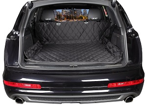 4Kinines Padded and Quilted SUV Cargo Area Cover for Dogs with Bumper Extension.