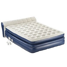 Coleman AeroBed Queen Inflatable Air Mattress Bed with Full Headboard.