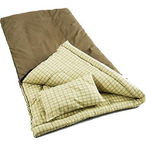 Coleman Big Game 0 degree big and tall sleeping bag with pillow for cold weather
