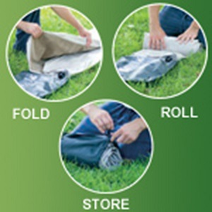 Handy Coleman Packable SUV Air Mattress Fold, Roll and Store.