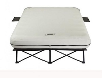 coleman queen cot frame air bed with legs side tables and steel frame type stand