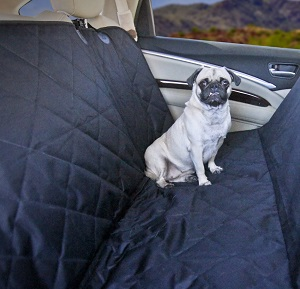 Devoted Doggy waterproof dog cover back seat car, protect your auto seats.