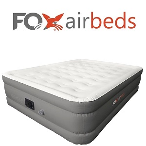 Box Airbeds Inflatable Bed King Size Plush High Rise Air Mattress with Built-in Pump.