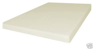 Full Size 4 Inch Firm Conventional Polyurethan Foam Mattress Bed Cushion for Home, RV, Truck or Camper