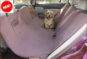 Dog Travel Mat, Extra Strong Dog Hammock Style Car SUV Back Seat Protector - Waterproof back side, for fabric or leather seats.