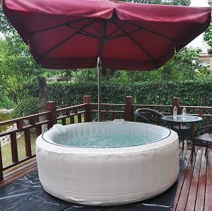 Homax Inflatable 6 Person Portable Hot Tub with 130 air jets