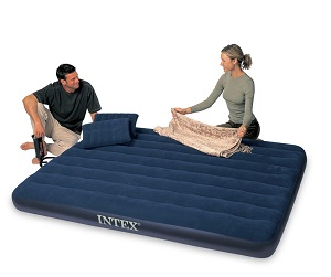 Intex Classic Downy Air Mattress, Queen Sized