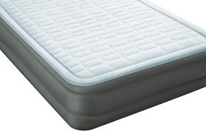 "Intex 18"" PremAire Airbed Mattress with Fiber Tech Construction, Twin Air Mattress Double High for Small Spaces and Extra Guest."
