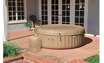 Intex PureSpa Inflatable Bubble Jet Spa Portable Hot Tub Cover.