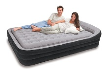 Intex Comfort Frame Headboard Airbed Kit, Queen air bed with removable inner mattress.