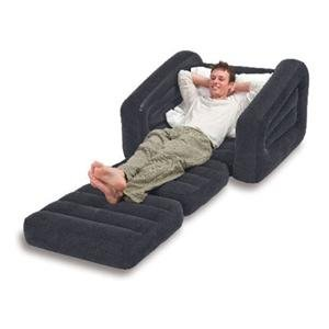 Flocked Pull Out Inflatable Double Sofa