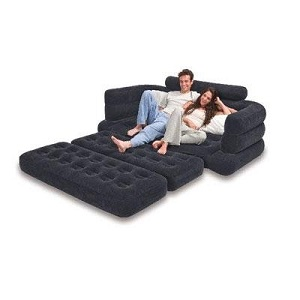 Comfortable Intex Flocked Pull Out Inflatable Double Sofa