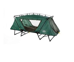 Kamprite Oversize Portable Steel Frame Tent Cot on legs.