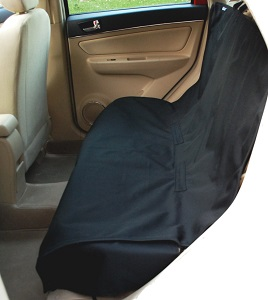 Krunco Waterproof Pet Bench Car Seat Cover - Non-slip, Extra Side Flaps, Machine Washable, Cloth or Leather Seats