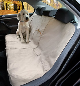 Kurgo Car Bench Seat Cover for Pets Khaki