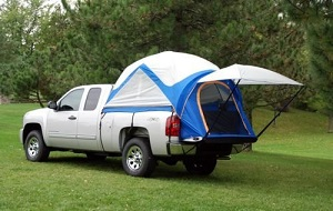 Napier Sportz Truck Tent and Air Mattress for your camping trip.
