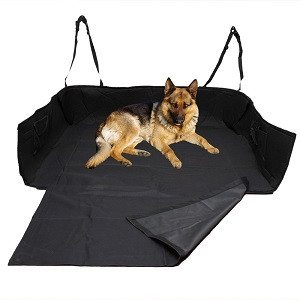 OxGord Waterproof Pet Car SUV MiniVans Back Trunk Full Cargo Area Liner Dog, Cat Bed Liner protector for Vans, SUVs, Hatchbacks and Station Wagons. Will fit well in Honda Pilot, Jeep Wrangler, Renegade, Grand Cherokee, Ford Escape and most other vechicle models.