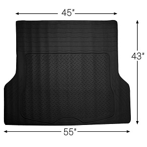 OxGord WeatherShield HD Heavy Duty Rubber Cargo Liner Mat, Trim-to-Fit for SUV Bed, Car, Van and Trucks, Made in the USA.
