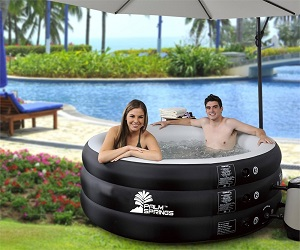 Palm Springs Inflatable Home Pro Classic Portable Hot Tub Jet Spa with Cover