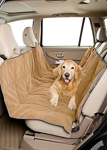 Pet Travel Hammock Dog Car Backseat Cover, Microvelvet Sand