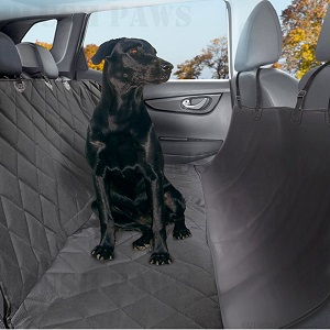 Pet Seat Cover with Seat Anchors, Waterproof, Hammock, non-slip silicone backing