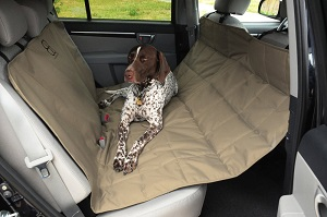 Sturdy Petego Dog, Pet Back Seat Car Protector Hammock, X-Large covers protecting your car, SUV back seat from dog hair, dirt.