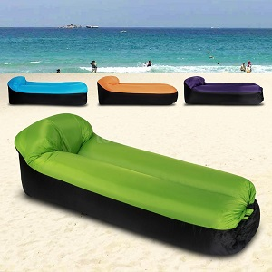 Portable Cmaping Inflatable Lounger Sofa Air Bed Sleeping Bag for Beach, Camping, Home Use.