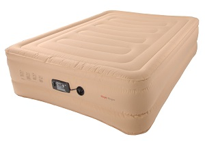 SimplySleeper Raised 18 inch Full Size Air Bed with Builit-in Electric Pump, Puncture Resistant.