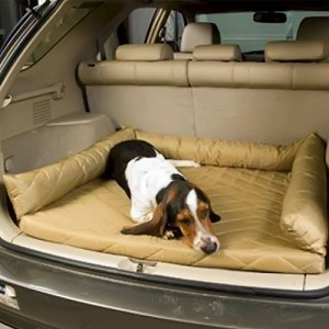 Snoozer Dog Cargo Liner and Bed with Bolster for SUV, Van, Vehicle
