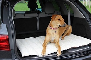 Cargo Area Padded Travel Dog Bed and Cargo Bed Liner for Car, Van, SUV Vehicles, mat rolls up easily.