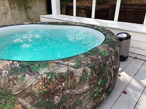 Vanish Spa 6-person Inflatable Portable Hot Tubs Realtree Xtra Camo Green