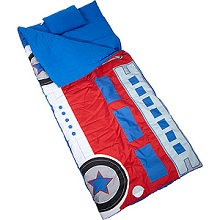 Wildkin Climb-in Fire Truck Sleeping Bag for those sleepover nights.