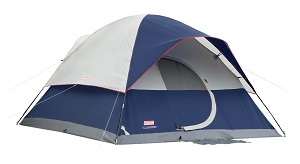 Coleman Elite Sundome 12 x 10 foot 6 Person Camping Tent with LED Light System.