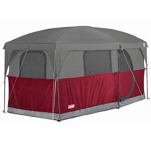 Coleman Hampton 6 Person Family Camping Cabin Style Tent 13 Foot X 7 Foot  With Room