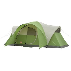 Coleman Montana 8 tent with Electrical Access Port and Hinged Door.