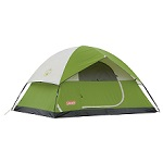 Coleman Sundome 4-Person Tent with electrical access port and rain-fly, Green