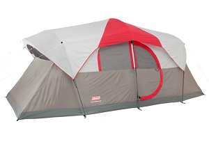 Coleman Weathermaster 10 Tent With Rainfly LED Light System 2 Rooms And Hinged