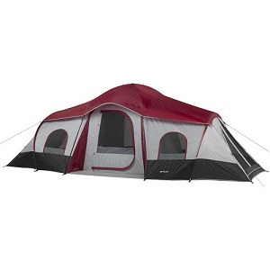 Ozark Trail Extra Large 3 Room 10 Person Cabin Tents Big With 3 Doors.