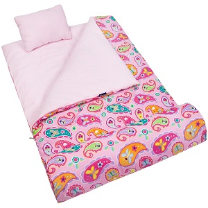 Wildkin Original Sleeping Bag With Pillow For Young Girls Kids