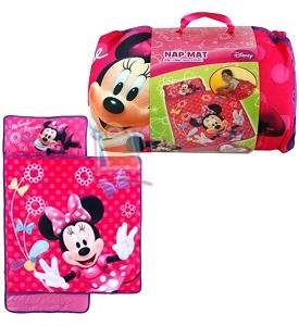Fun Disney 174 Minnie Mouse Toddler Nap Mat With Bag And