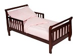 American Baby Company Minky Dot Chenille 4-Piece Toddler Bed Set, Pink