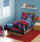 Marvel Spiderman Toddler Bedding Set, Red